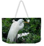Great Egret 17 Weekender Tote Bag