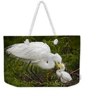 Great Egret And Chick Weekender Tote Bag