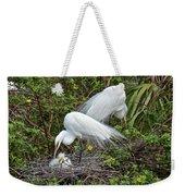 Great Egret Family Weekender Tote Bag