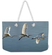 Great Egret Flight Sequence Weekender Tote Bag