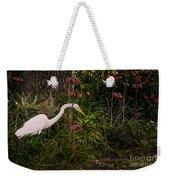 Great Egret In The Garden Weekender Tote Bag