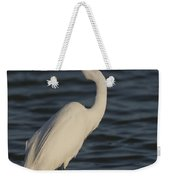 Great Egret In The Last Light Of The Day Weekender Tote Bag