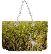 Great Egret In The Morning Dew Weekender Tote Bag