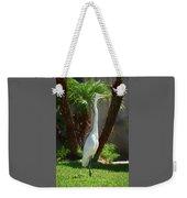 Great Egret Just Strutting Impressionism 1 Weekender Tote Bag