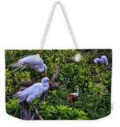 Great Egret Pair Weekender Tote Bag