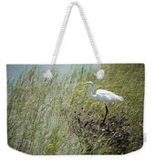 Great Egret Through Reeds Weekender Tote Bag