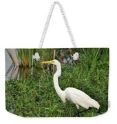 Great Egret Walking Weekender Tote Bag