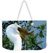 Great Egret With Catch 2 Weekender Tote Bag