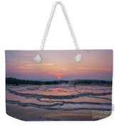 Great Fountain Geyser Sunset Reflections Weekender Tote Bag