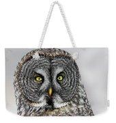 Great Gray Owl Portrait Weekender Tote Bag