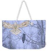 Great Gray Owl Together Weekender Tote Bag