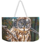 Great Grey Owl 2 Weekender Tote Bag
