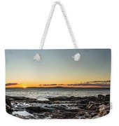 Great Head Beach Sunrise Weekender Tote Bag
