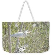 Great Heron With Mouth Open Weekender Tote Bag
