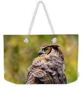 Great Horned Owl At Attention Weekender Tote Bag