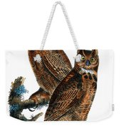 Great Horned Owl Audubon Birds Of America 1st Edition 1840 Royal Octavo Plate 39 Weekender Tote Bag