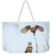 Great Horned Owl Couple Weekender Tote Bag