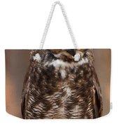 Great Horned Owl Digital Oil Weekender Tote Bag