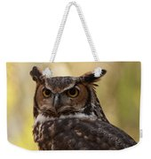 Great Horned Owl In A Tree 1 Weekender Tote Bag