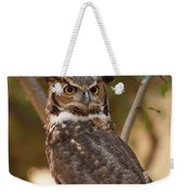 Great Horned Owl In A Tree 3 Weekender Tote Bag