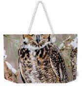 Great Horned Owl Nature Wear Weekender Tote Bag