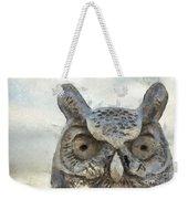 Great Horned Owl Pencil Weekender Tote Bag
