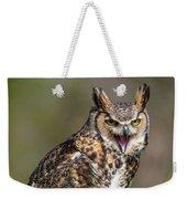 Great Horned Owl Screeching Weekender Tote Bag
