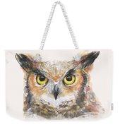 Great Horned Owl Watercolor Weekender Tote Bag