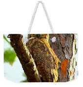 Great Horned Owl Wink Weekender Tote Bag