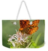 Great Spangled Fritillary On Bee Balm Weekender Tote Bag