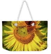 Great Spangled Fritillary On Sunflower Weekender Tote Bag