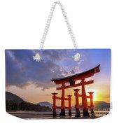 Great Torii Of Miyajima At Sunset Weekender Tote Bag