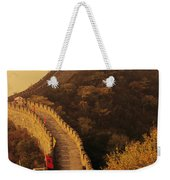Great Wall In The Mist Weekender Tote Bag