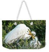 Great White Egret Family Weekender Tote Bag