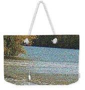 Great White Egret Fishing  Weekender Tote Bag