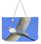 Great White Egret In Flight . 40d6850 Weekender Tote Bag