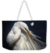 Great White Egret Print One Weekender Tote Bag
