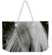 Great White Egret Windblown Weekender Tote Bag