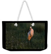 Great White Egret With Armored Catfish Weekender Tote Bag