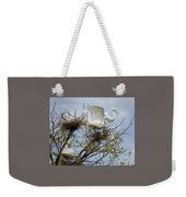 Great Egrets, Nest Building Weekender Tote Bag