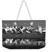 Great White Pelicans, Lake Nakuru, Kenya Weekender Tote Bag