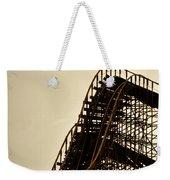 Great White Roller Coaster - Adventure Pier Wildwood Nj In Sepia Triptych 1 Weekender Tote Bag