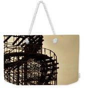 Great White Roller Coaster - Adventure Pier Wildwood Nj In Sepia Triptych 3 Weekender Tote Bag