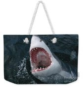 Great White Shark Jaws Weekender Tote Bag by Mike Parry
