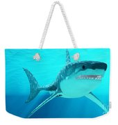 Great White Shark With Sunrays Weekender Tote Bag