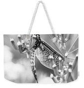 Great Wings  Black And White Dragonfly Weekender Tote Bag