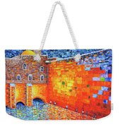 Wailing Wall Greatness In The Evening Jerusalem Palette Knife Painting Weekender Tote Bag