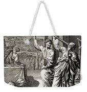 Greek Astronomer Studying The Stars Weekender Tote Bag