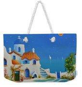 Greek Blue Santorini A Greek Fairytale Weekender Tote Bag