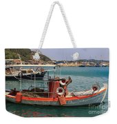 Greek Boat And Boots Weekender Tote Bag